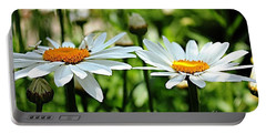 Portable Battery Charger featuring the photograph Fresh As A Daisy by Judy Palkimas