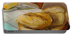 Fresh Bread Portable Battery Charger by John Williams
