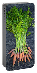 Fresh Carrots From Garden Portable Battery Charger