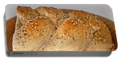 Fresh Challah Bread Art Prints Portable Battery Charger