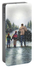 Fresh Cut Christmas Tree Portable Battery Charger