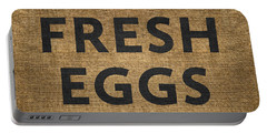 Portable Battery Charger featuring the digital art Fresh Eggs by Nancy Ingersoll