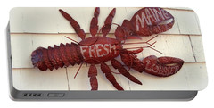 Fresh Maine Lobster Sign Boothbay Harbor Maine Portable Battery Charger