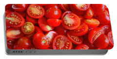 Fresh Red Tomatoes Portable Battery Charger by Amanda Stadther
