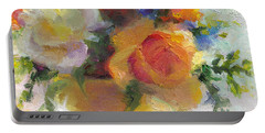 Fresh - Roses In Teacup Portable Battery Charger