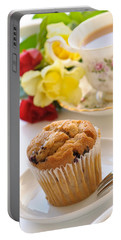 Freshly Baked Muffin With Tea Portable Battery Charger