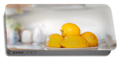 Freshly Picked Lemons Portable Battery Charger by Amanda Elwell