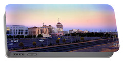 Fresno Skyline Into The Evening Portable Battery Charger