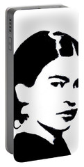 Frida Black And White Portable Battery Charger