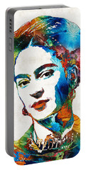 Frida Kahlo Art - Viva La Frida - By Sharon Cummings Portable Battery Charger