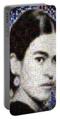 Frida Kahlo Mosaic Portable Battery Charger