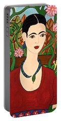 Frida With Vines Portable Battery Charger