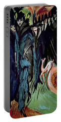 Friedrichstrasse Portable Battery Charger by Ernst Ludwig Kirchner