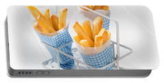 Fries Portable Battery Charger by Amanda Elwell