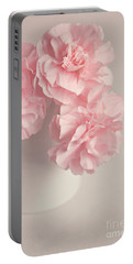Frilly Pink Carnations Portable Battery Charger