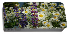Portable Battery Charger featuring the photograph Frisco Flowers by Lynn Bauer