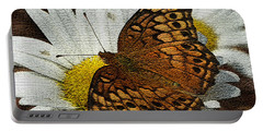 Fritillary Variegated  Portable Battery Charger by James C Thomas