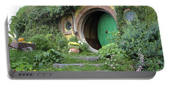 Frodo Baggins Lives Here Portable Battery Charger by Venetia Featherstone-Witty