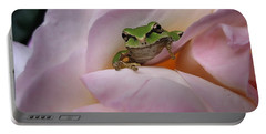Frog And Rose Photo 1 Portable Battery Charger