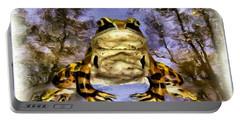 Portable Battery Charger featuring the digital art Frog by Daniel Janda