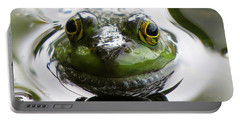 Portable Battery Charger featuring the photograph Frog Kiss by Dianne Cowen