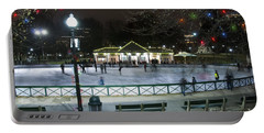 Frog Pond Ice Skating Rink In Boston Commons Portable Battery Charger
