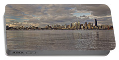 from Alki Beach Seattle skyline Portable Battery Charger