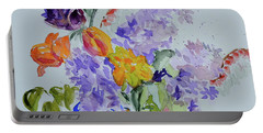 Portable Battery Charger featuring the painting From Grammy's Garden by Beverley Harper Tinsley