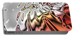 From Grey To Red. Beautiful Abstract Design Portable Battery Charger