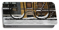From My Fire Escape - Arches In The Snow Portable Battery Charger