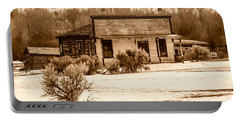 From Saloon To Store Front And Home In Sepia Portable Battery Charger