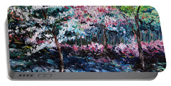 Portable Battery Charger featuring the painting From The Earth by Meaghan Troup