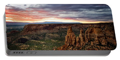 From The Overlook - Colorado National Monument Portable Battery Charger by Ronda Kimbrow