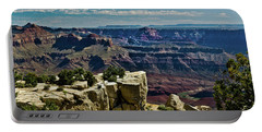 Portable Battery Charger featuring the photograph From Yaki Point 2 Grand Canyon by Bob and Nadine Johnston
