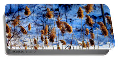 Fronds In Winter Portable Battery Charger by Eleanor Abramson