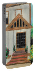 Portable Battery Charger featuring the painting Front Door 1 by Jeanne Fischer