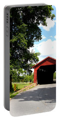 Front View Of Utica Mills Covered Bridge Portable Battery Charger
