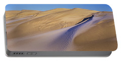 Frost Accents The Sand Dunes In Oregon Portable Battery Charger