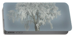 Frost Covered Lone Tree Portable Battery Charger