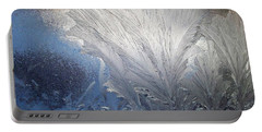Frost Ferns Portable Battery Charger by Joy Nichols