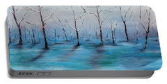 Portable Battery Charger featuring the painting Frost Like Ashes by Meaghan Troup