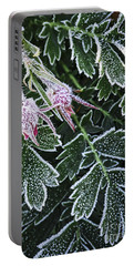 Frost On Plants In Late Fall Portable Battery Charger