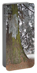 Portable Battery Charger featuring the photograph Frost On The Leaves by Felicia Tica
