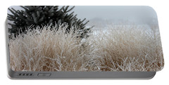 Frosted Grasses Portable Battery Charger