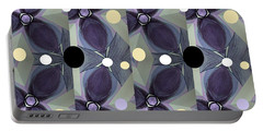 Frosted Purple Flower Portable Battery Charger