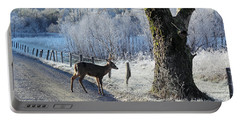 Frosty Cades Cove II Portable Battery Charger by Douglas Stucky