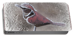 Portable Battery Charger featuring the photograph Frosty Cardinal by Patti Deters