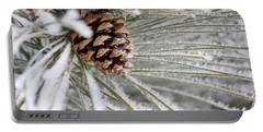 Frosty Norway Pine Portable Battery Charger