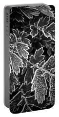 Frosty Plants In Fall Portable Battery Charger