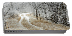 Portable Battery Charger featuring the photograph Frosty Trail 2 by Penny Meyers